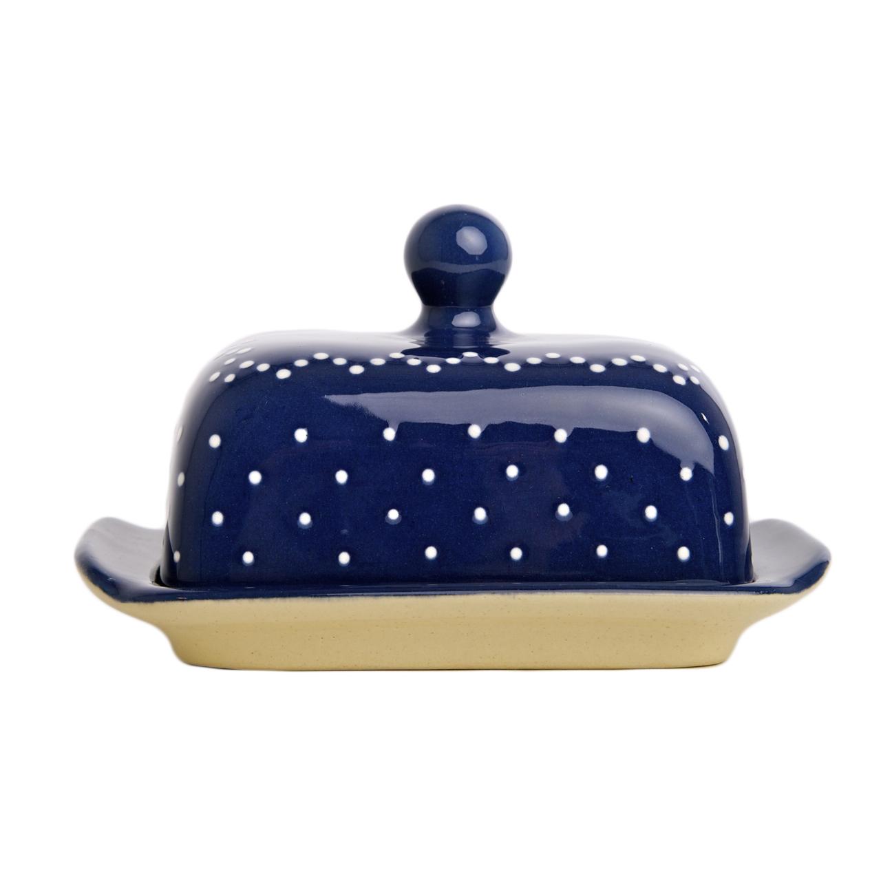 t pferei arnold butterdose blau wei t pferei produkte. Black Bedroom Furniture Sets. Home Design Ideas